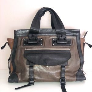 CHLOE Tracy Bag Large Size Authentic Brown Black